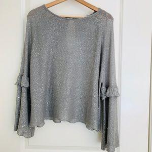 Zara grey top with sequin